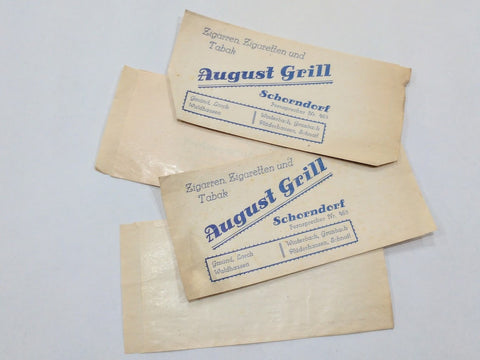 Original German Tobacco Sales Bags August Grill