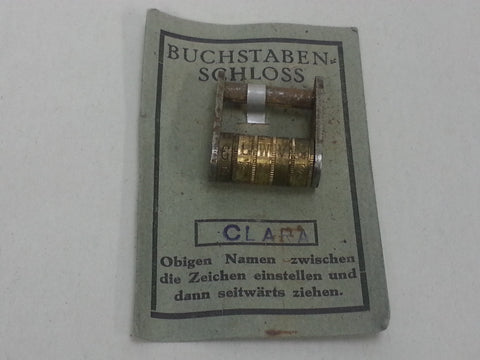 Original WWII German Word Combination Lock