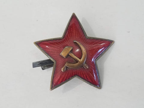 Original WWII Soviet Cap Hat Star 2 Piece Construction