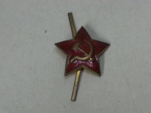 Original WWII Soviet Russian Small Red Enamel Cap Hat Star