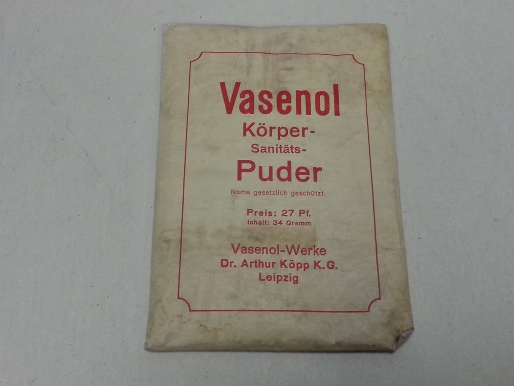 Original WWII Vasenol German Body Powder Refill Packet