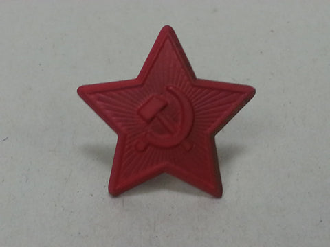 Repro WWII Small Red Painted Soviet Russian Cap Star
