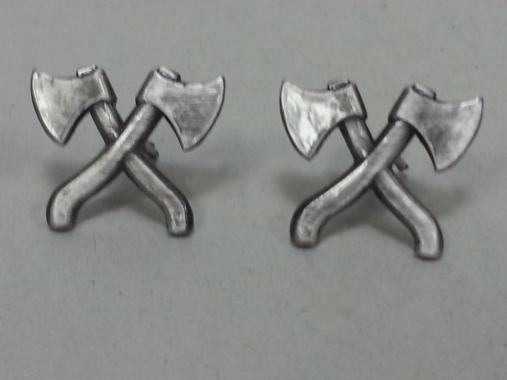 Repro WWII Soviet Russian Large Crossed Axe Devices Engineer Collar Tabs