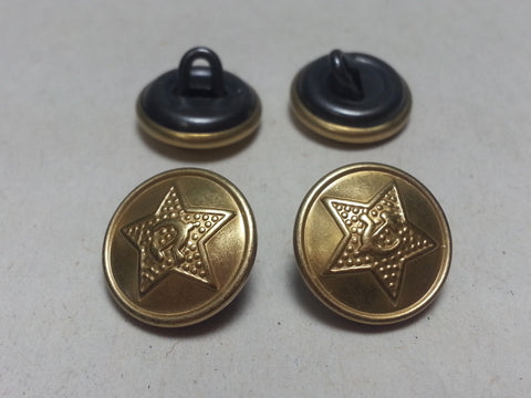 Repro WWII Soviet Russian 14mm Tunic Buttons - Brass