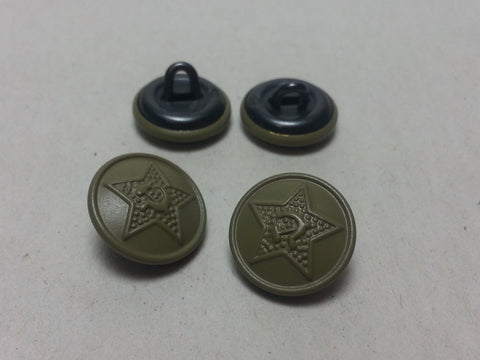 Repro WWII Soviet Russian 14mm Tunic Buttons - Green