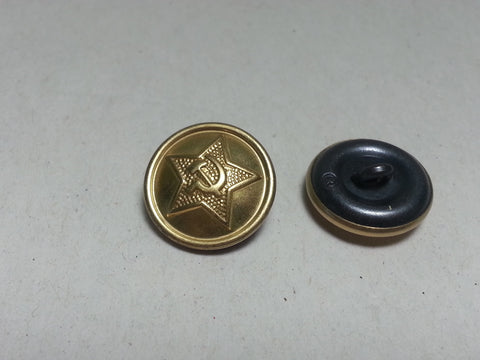 Repro WWII Soviet Russian 18mm Buttons - Brass