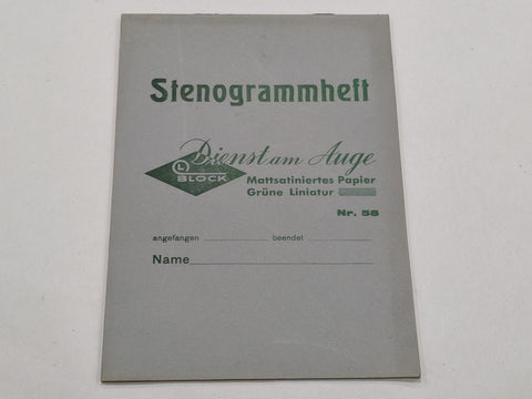 WWII-era German Stenogrammheft Shorthand Notebook
