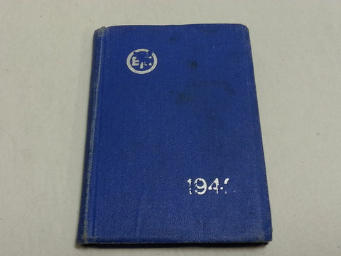WWII Estonian 1942 Pocket Calendar / Planner