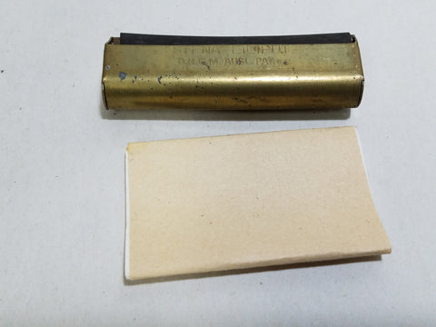 WWII German Brass Siena Liliput Cigarette Rolling Machine & Papers D.R.G.M. - Ostfront