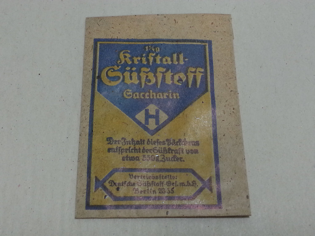 WWII German Saccharin Artificial Sweetener Packet