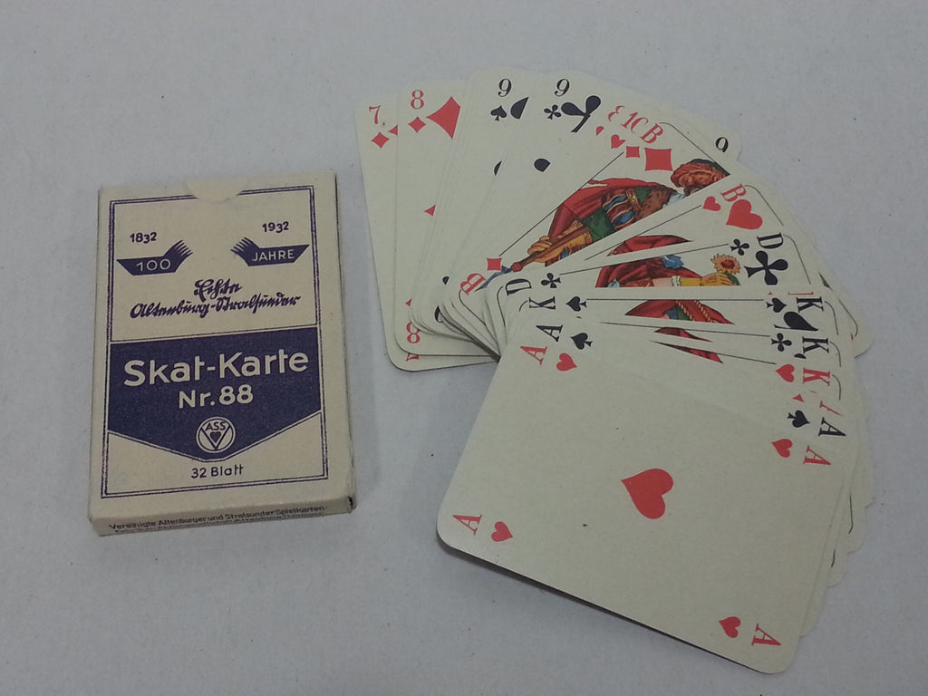 WWII German Skat Nr.88 1932 Playing Cards