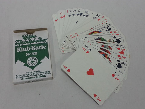 WWII German Skat Nr.9R Green Playing Cards