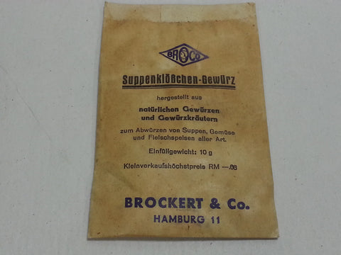 WWII German Soup Spice Packet Suppenklößchen Gewürz