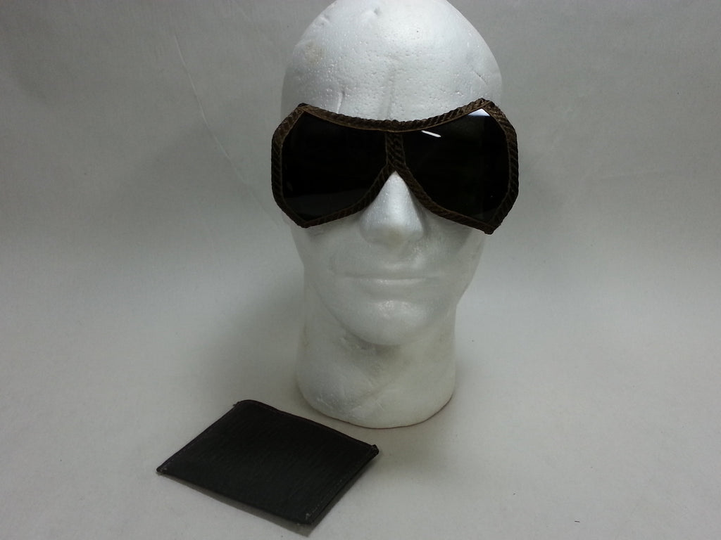 WWII German TINTED Dust Goggles Unissued in Envelope