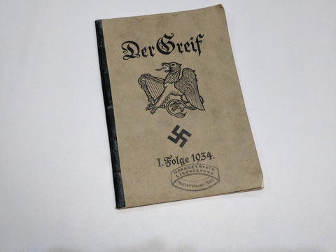 Original German Greif Song Book 1934