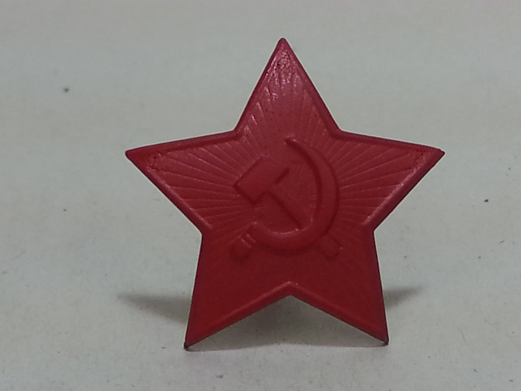 WWII Large Red Painted Soviet Russian Cap Hat Star Repro