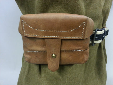 WWII Soviet Russian Leather Mosin Nagant  SVT40 Ammo Pouch Repro