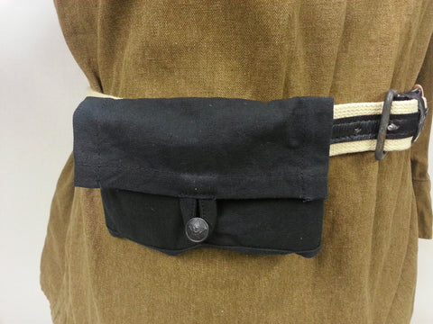 WWII Soviet Russian Reproduction Black Canvas Ammo Pouch