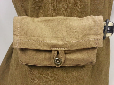 WWII Soviet Russian Reproduction Tan Canvas Ammo Pouch