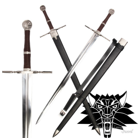 witcher Geralt style sword 3 STRAIGHT handle