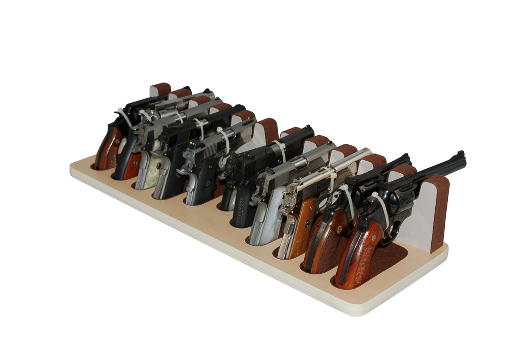 11 Slot Pistol Stand - P11-01 - Mixed Sizes w/ subcompact