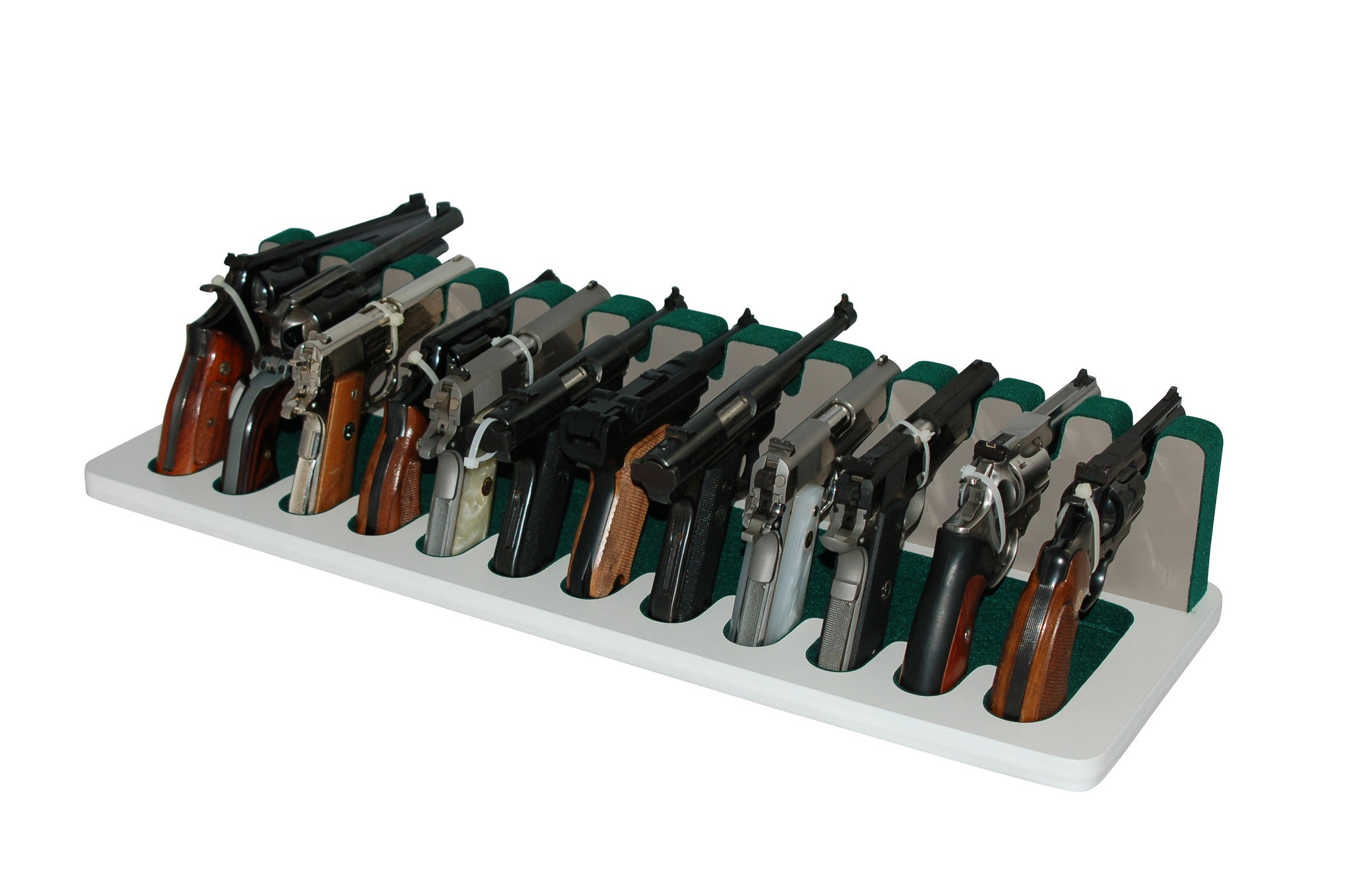 12 Slot Pistol Stand - P12-04 - Large Frame Revolvers and Semi ...