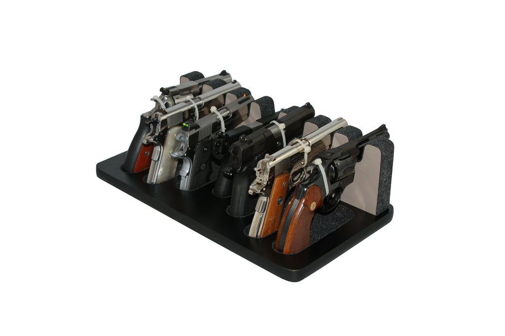 7 Slot Pistol Stand - P7-01 - Mixed Sizes w/ subcompact