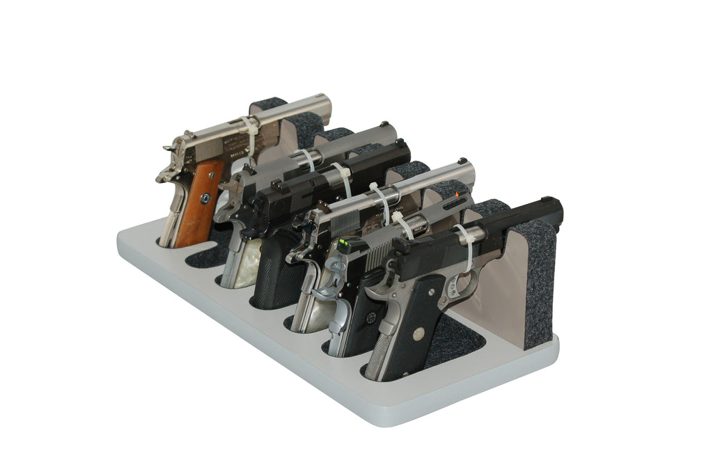 7 Slot Pistol Stand - P7-05 - Semi-automics, short and longer barrels