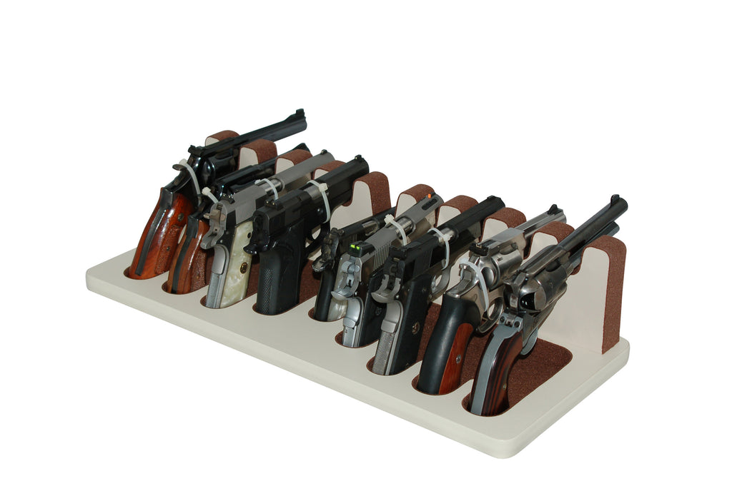 9 Slot Pistol Stand - P9-01 - Mixed Sizes w/ Subcompact
