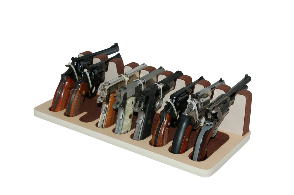 9 Slot gun and pistol stand - revolver and semi-automatic