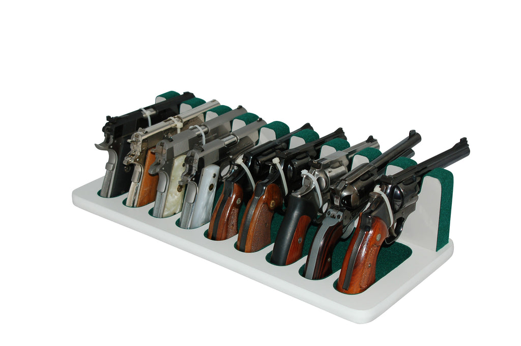 9 Slot Pistol Stand - P9-04 - Large Frame Revolvers and Semi-Automatics