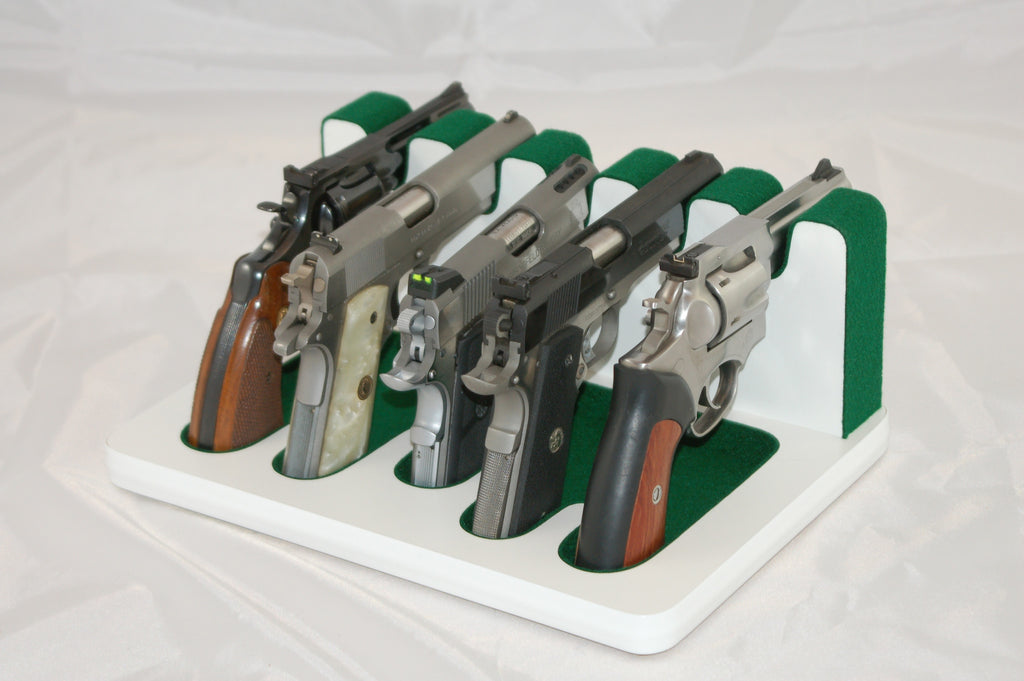 5 Slot Pistol Stand - P5-01 - Mixed Sizes