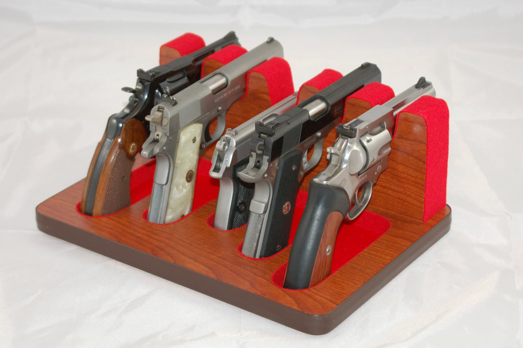 5 Slot Pistol Stand - P5-01s - Mixed Sizes w/ Subcompact