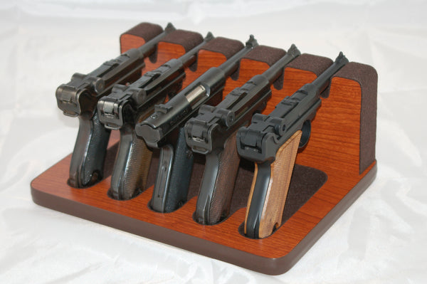 5 Slot Pistol Stand - P5-Luger/Ruger - Handguns with pencil barrels