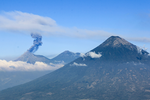 Guatemala coffee region and volcanos
