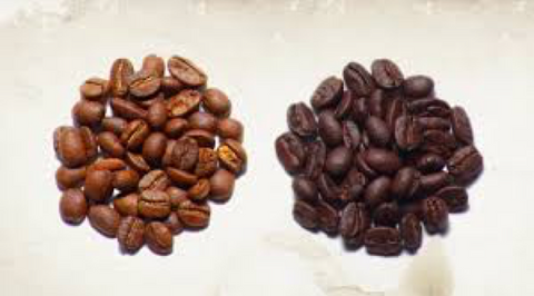 Light coffee beans to dark coffee beans