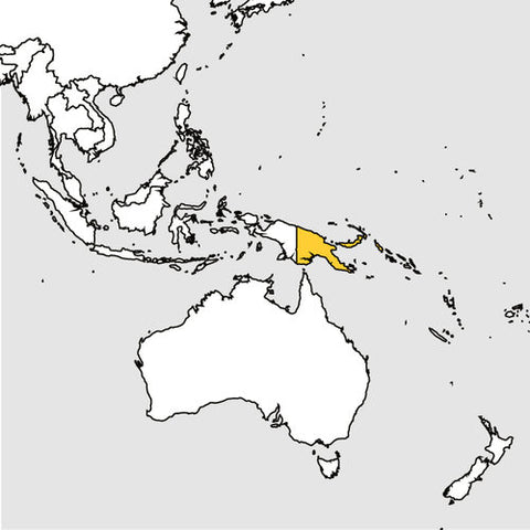 Graphics Map of location of Papua New Guinea