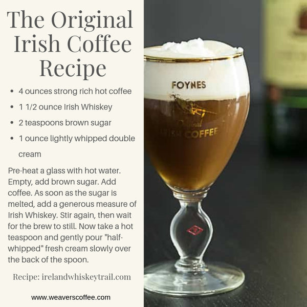 The Original Irish Coffee Recipe