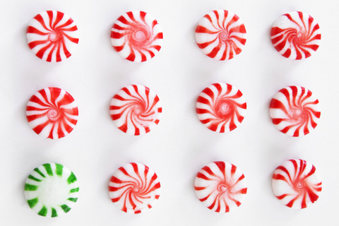 Photo of Peppermint Red Swirl and Green Swirl Candy