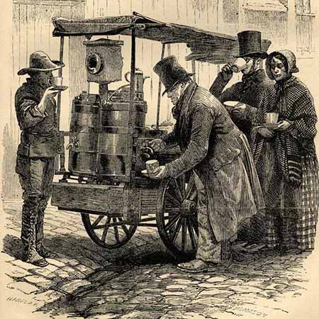 The London Coffee Stall - Victorian Era