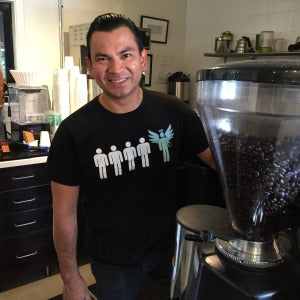 Carlos, Coffee Wizard Apprentice, Coffee Artist, San Rafael Cafe