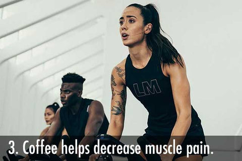 Coffee helps decrease muscle pain