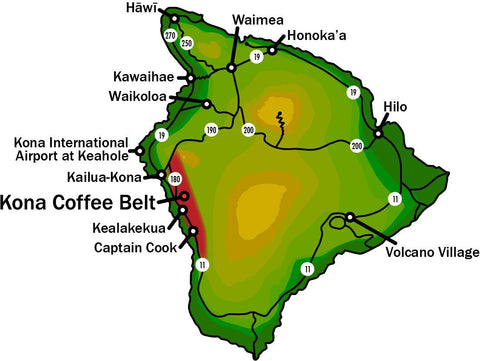 Kona Coffee Belt Map