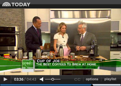 NBC's Today Show - Best Organic Coffee