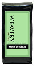 Photo of bag of Weaver's African Coffee Blend