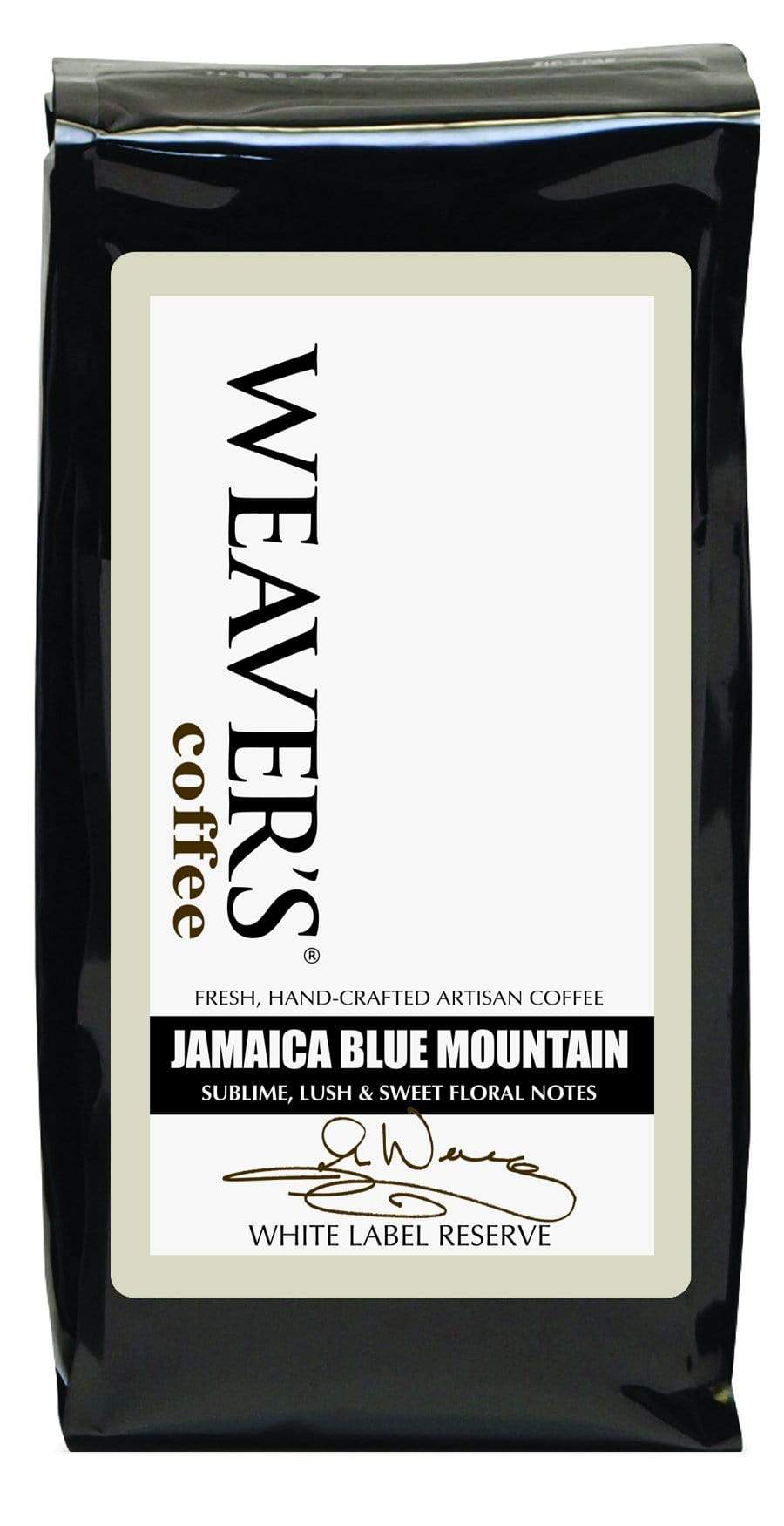weaverscoffee.com Jamaica Mountain Blue Reserve Coffee - White Label Reserve Coffee
