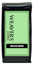 Photo of a bag of Weaver's Java Blue Batavia Coffee