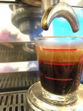 Espresso shot with large thick crema