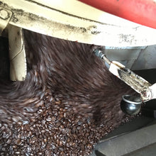 French Roast Coffee in the coffee roaster