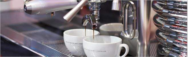 Photo of Espresso Coffee Cups at the espresso machine